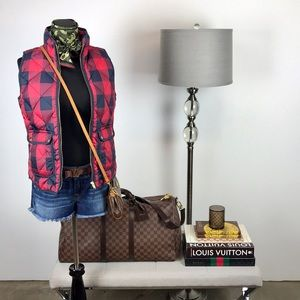 J. Crew Buffalo Check // Plaid Quilted Down Vest